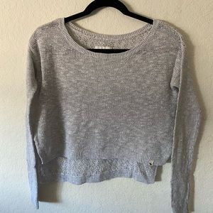 Gray Abercrombie and Fitch Sweater